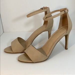 "Apt 9 Defined Comfort Nude 4"" Heel  w Ankle strap"